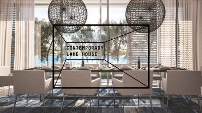 Contemporary lake house interior design