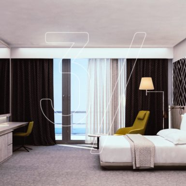 Hotel room interior design concept