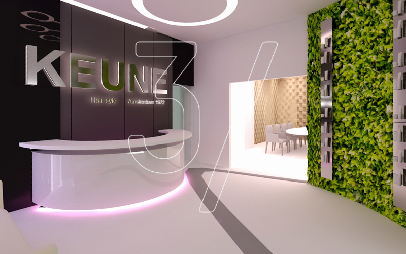 Keune Hair Salon design and build | 3 FINGERS DESIGN STUDIO