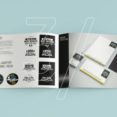 Branding 3 Fingers design studio - graphic design Nene Valley Brochure