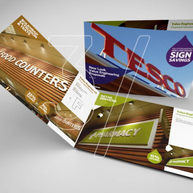 3 Fingers design studio - graphic design Tesco Brochure