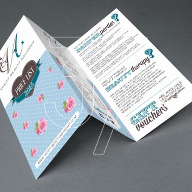3 Fingers design studio - graphic design Tri Fold Leaflet